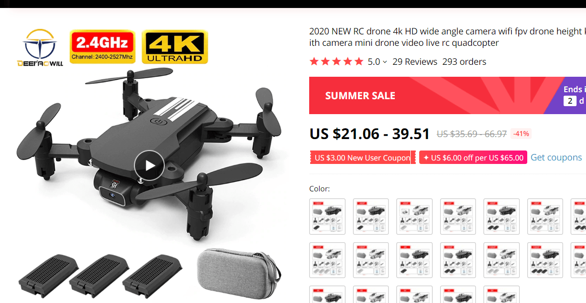 some people dropship drones to make money.